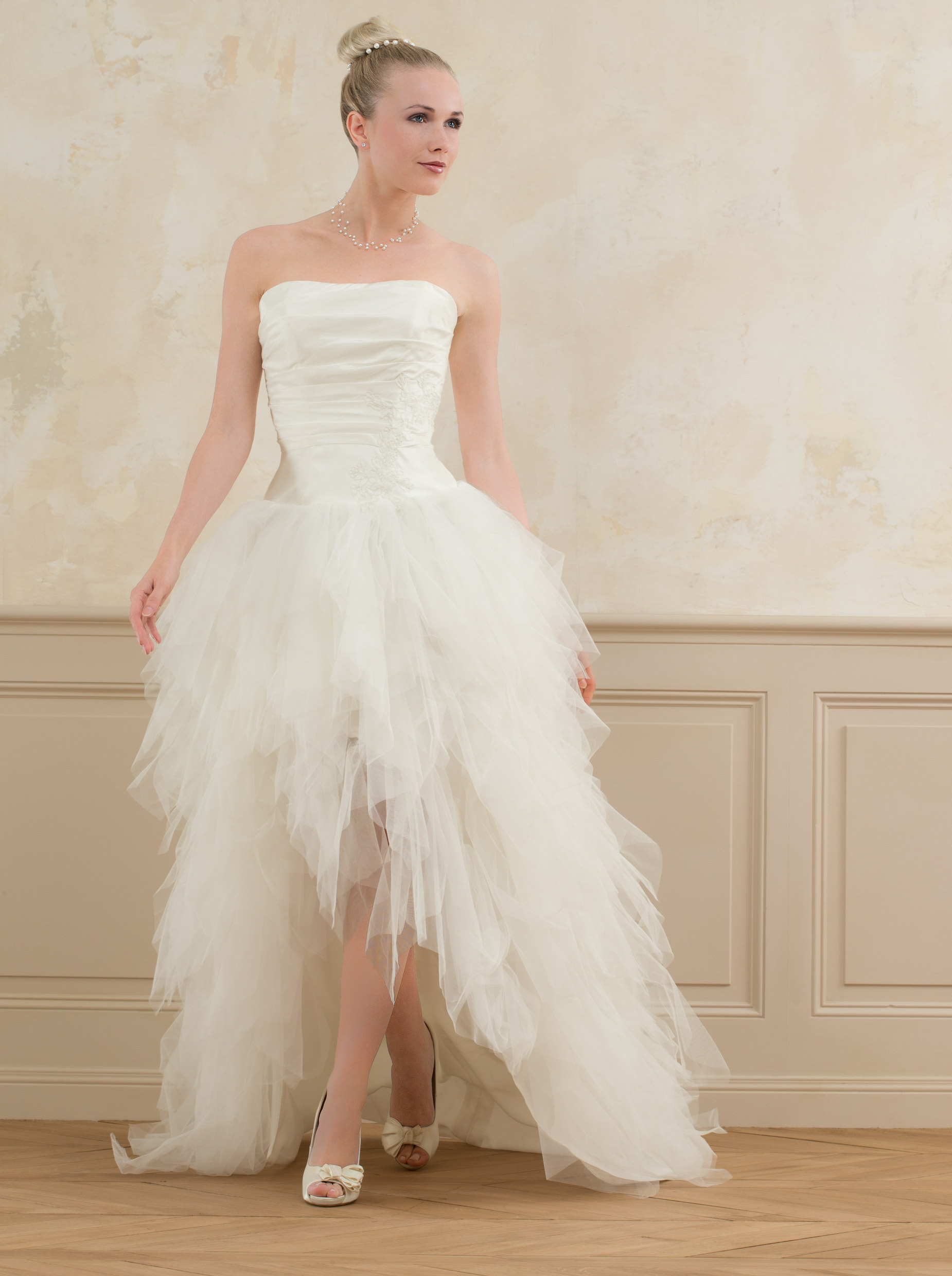 robe mariee grise point mariage - Point Mariage Herblay