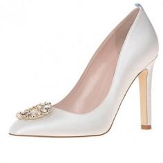 Chaussures Mariée Sarah Jessica Parker - Angelica in Duchess - $545