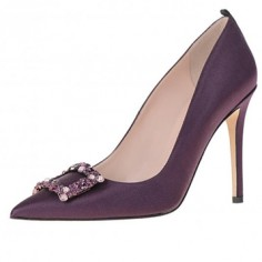 Chaussures Mariée Sarah Jessica Parker - Mary in Plum - $585